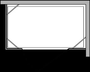 CN2F + CNPL : Flügeltür mit doppelter Fixseite (zusammensetzbar)