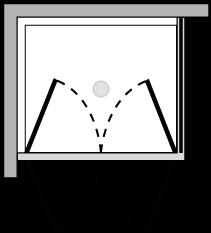 FR2P + FRFI : Doppelflügeltür mit Fixseite (Ecke)
