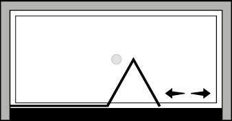 FRSFL : Falttür mit Fixteil (in Nische)