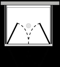 LB2P + LKFIX2 : Doppelflügeltür mit 2 Fixseiten (Ecke)