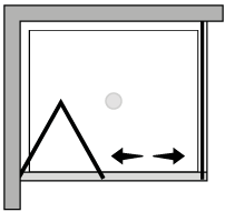 LKSF + LKFI : Falttür mit Fixseite (Ecke)