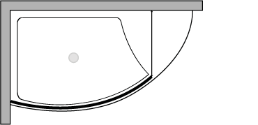 VLPTL + VLFI : Duschteller 140 cm breit mit fester Glasscheibe