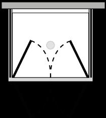 FR2P + FRFIX2 : Doppelflügeltür mit 2 Fixseiten (Ecke)