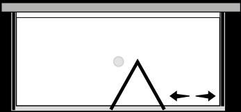 FRSFL + FRFIX2 : Falttür mit Fixteil und 2 Fixseiten (Ecke)