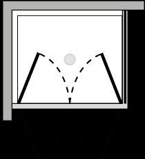 LB2P + LKFI : Doppelflügeltür mit Fixseite (Ecke)
