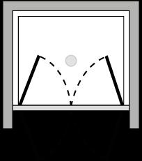 LB2P : Doppelflügeltür (in Nische)