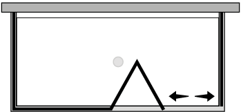 LKSFL + LKFIX2 : Falttür mit Fixteil und 2 Fixseiten (Ecke)
