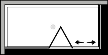QUSFL + QUFI : Falttür mit Fixteil und Fixseite (Ecke)