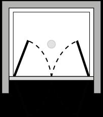 FR2P : Doppelflügeltür (in Nische)
