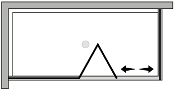 LKSFL + LKFI : Falttür mit Fixteil und Fixseite (Ecke)