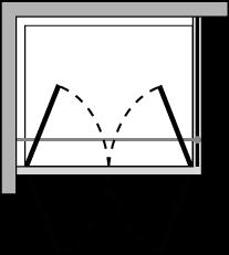 OM2P + OMFX : Doppelflügeltür mit Fixseite (Ecke)