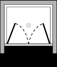 OM2P : Doppelflügeltür (in Nische)