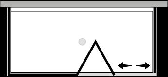 QUSFL + QUFIX2 : Falttür mit Fixteil und 2 Fixseiten (Ecke)