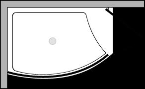 VLPTS + VLFI + VLPO48 : Duschteller 113 cm breit mit fester Glasscheibe und Tür